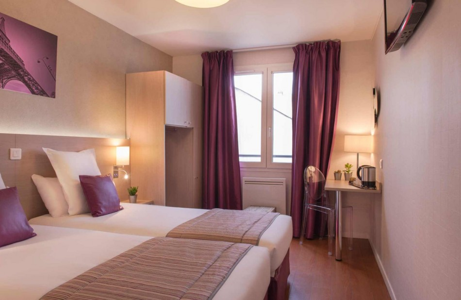 Twin room superior - Hotel near nation paris - Classic Hotel Bastille